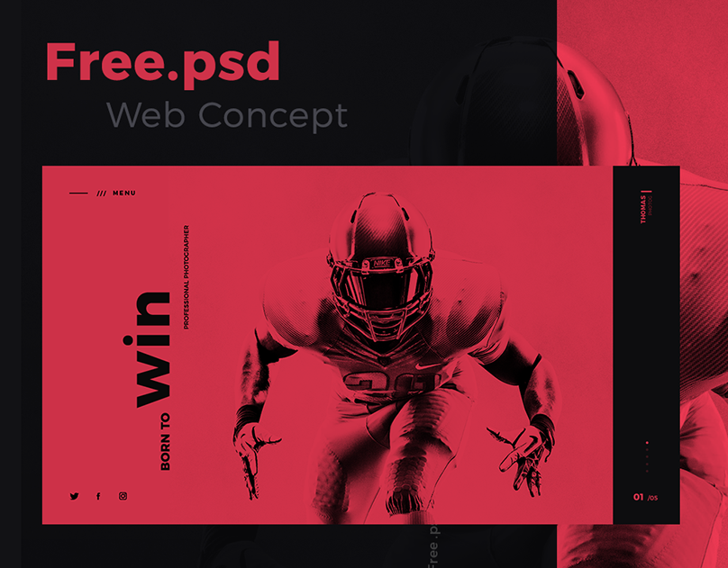 Thomas Oswald - Personal Website - Free PSD Concept