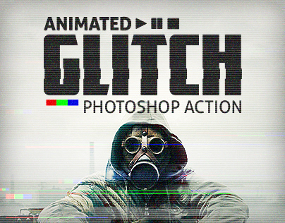 Animated Glitch - Photoshop Action on Behance