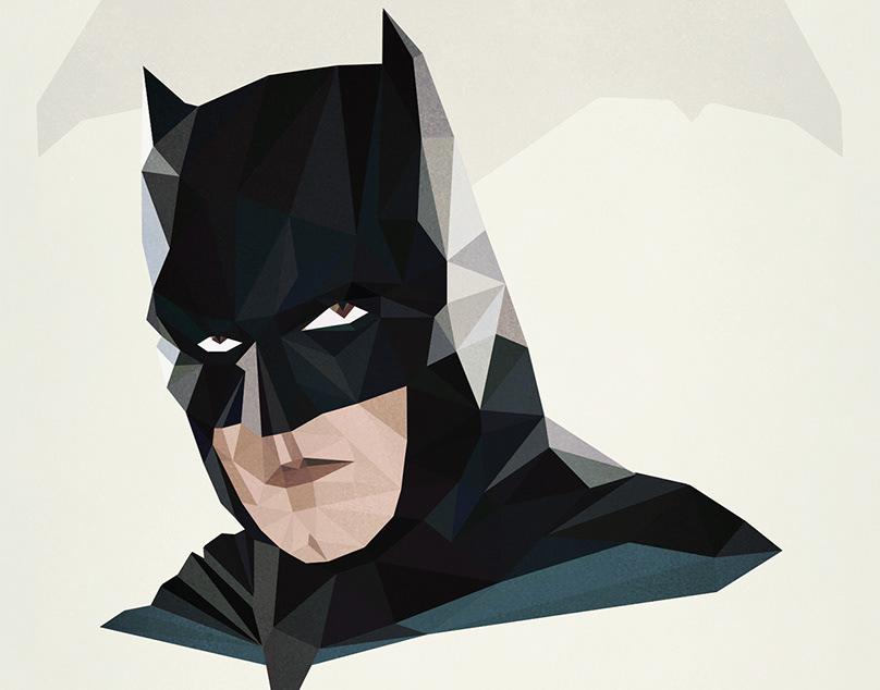 Batman Portrait - Low Poly Art