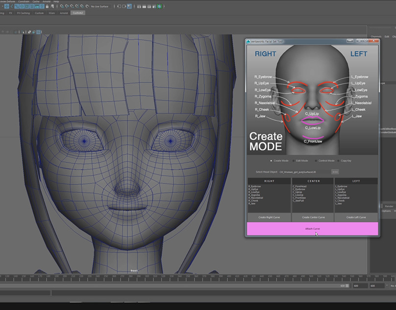 Maya Python facial rig script DEMO on Behance
