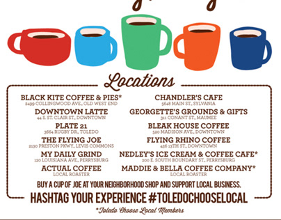 Coffee Cash Mob ad for Toledo City Paper