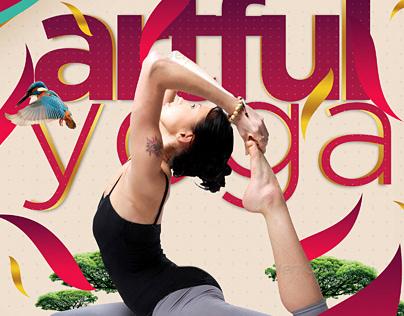 simple yoga flyer on behance