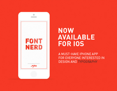 Font Nerd for iOS on Behance