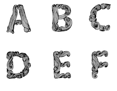 Hairy font