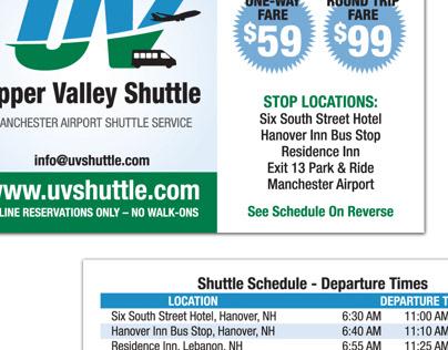 Upper Valley Shuttle Business Cards