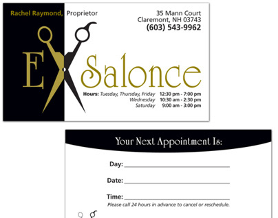 ExSalonce Business Cards