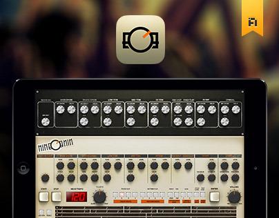 nineonine drum machine ipad app classic version on behance. Black Bedroom Furniture Sets. Home Design Ideas