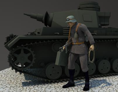 Panzer III WW2 German tank - 3d model free download on Behance