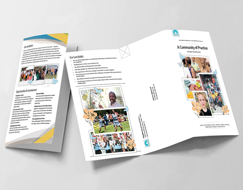 A Community of Practice Mailer - Brochure Design