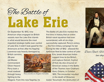 Battle of Lake Erie information graphic panels