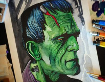 Frankenstein Watercolor