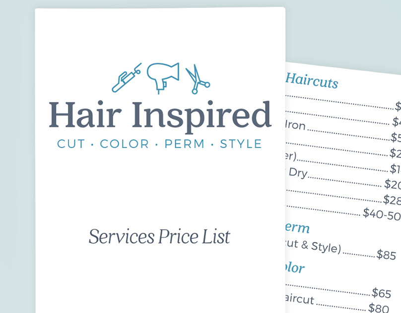 Brand Design for Hair Salon