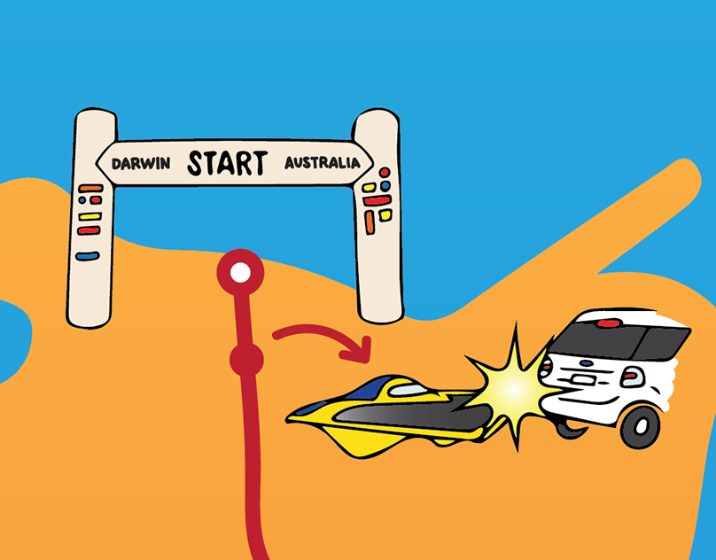 Driving the Stuart Highway Infographic