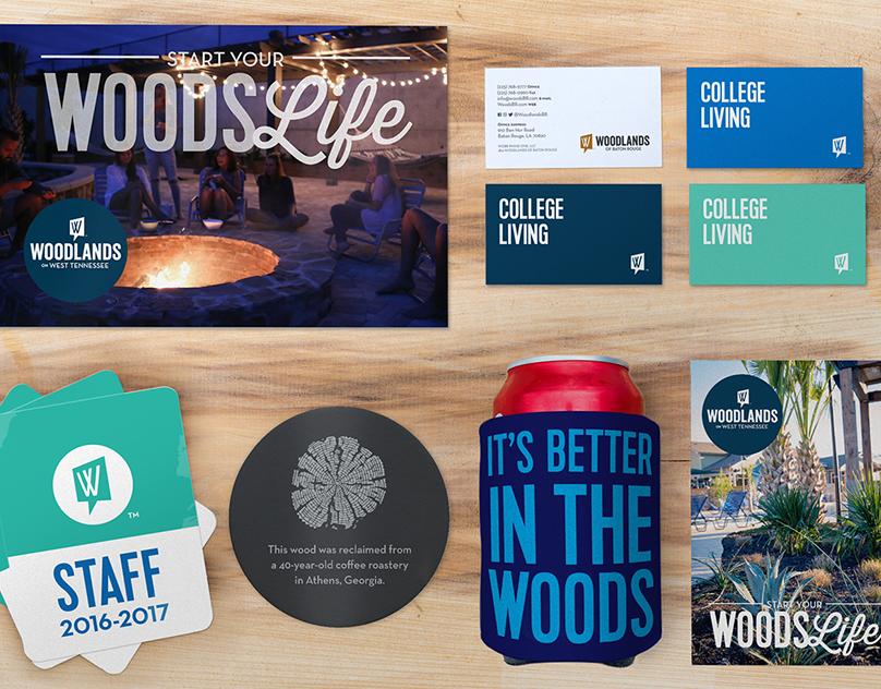 Woodlands Student Apartment Branding