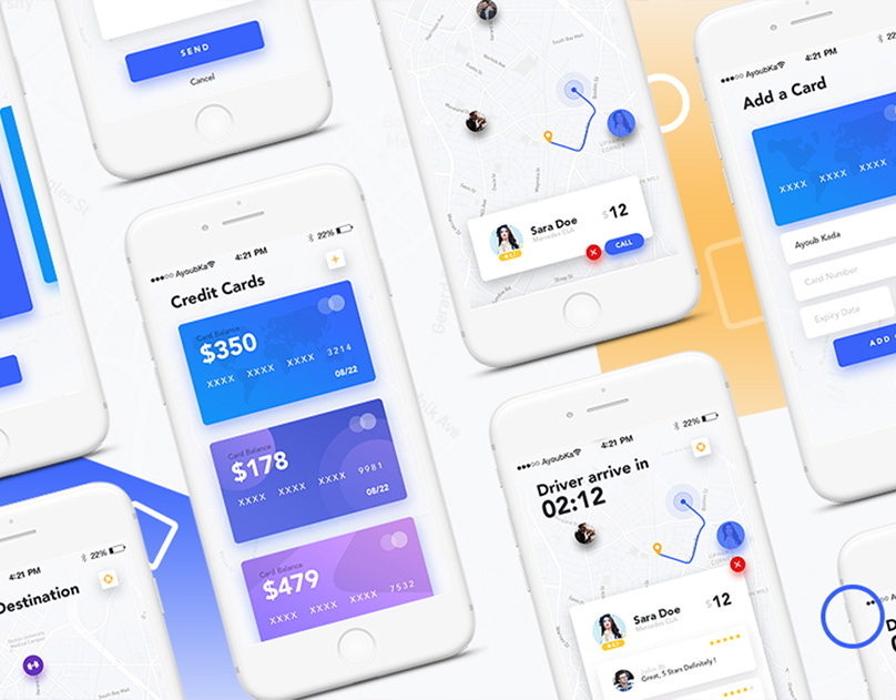 Drive - Mobile App UI Kit Design - PSD Files Download on Behance