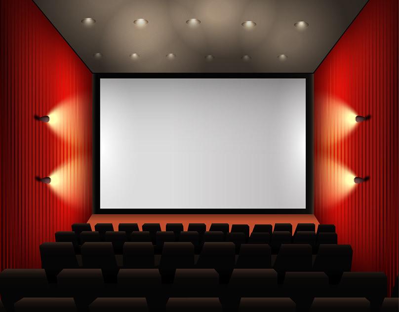 Фон кинотеатр для презентации