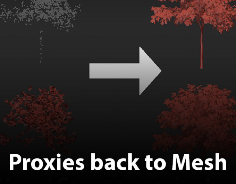 How to convert Vray / Corona proxies back to mesh on Behance