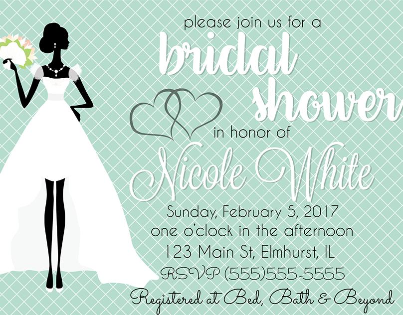 Vintage lingerie bridal shower invitations announce it