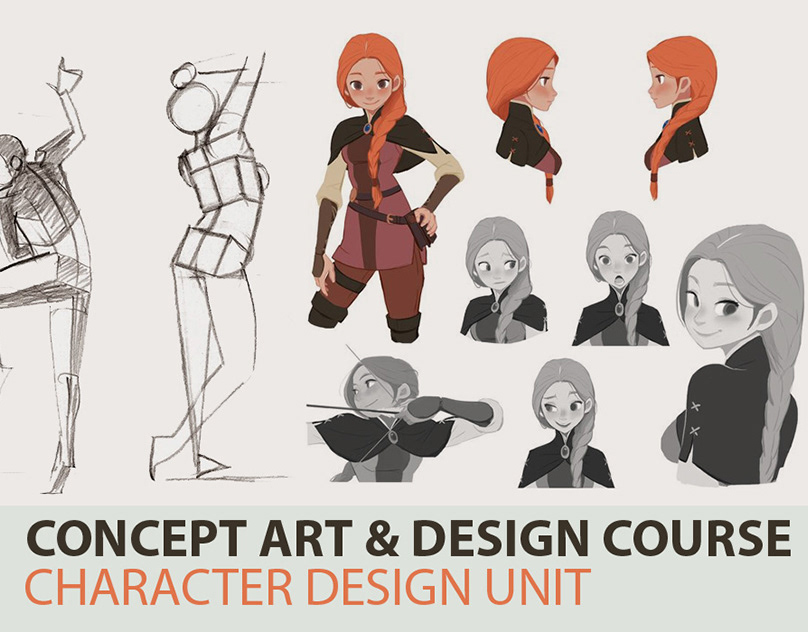 concept art  u0026 story design course character design unit on