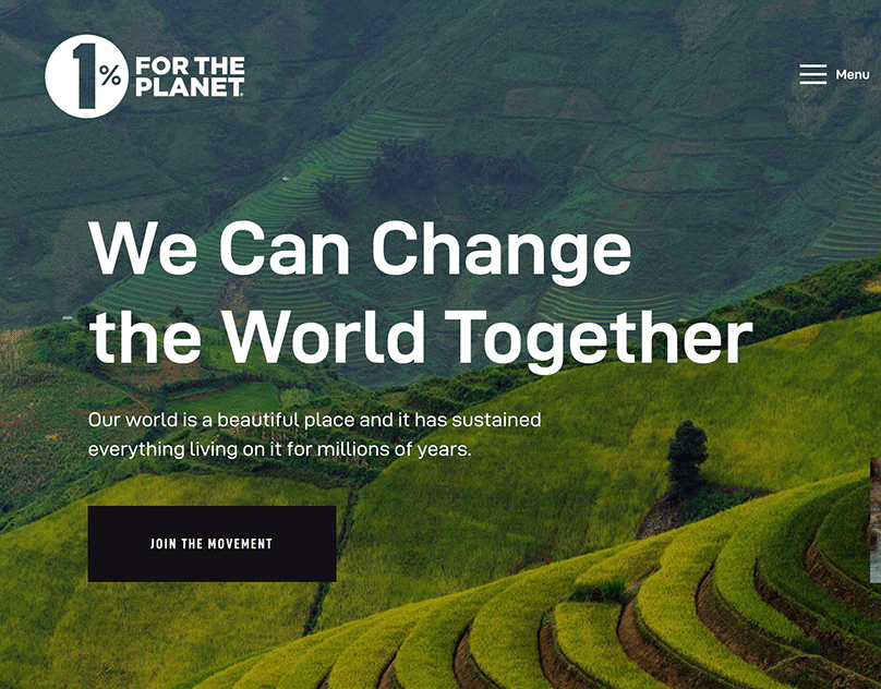 One Percent for the Planet WordPress