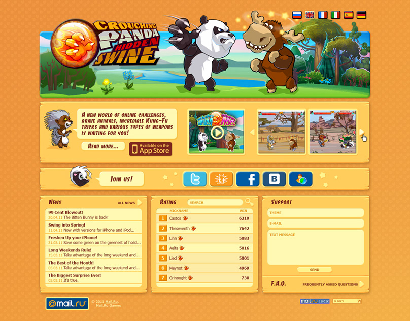 Crouching Panda Game - Web Site