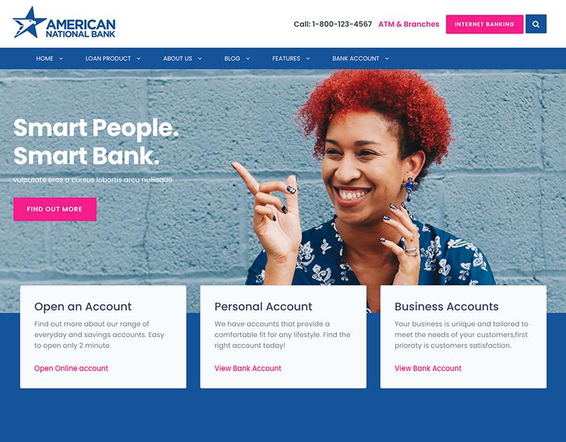 American National Bank WordPress