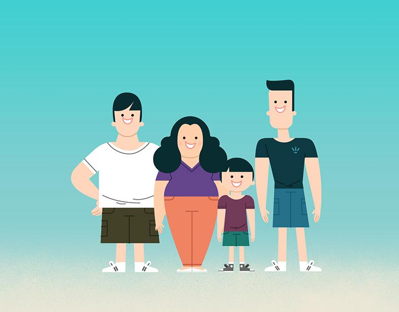 Картинки анимации для семьи
