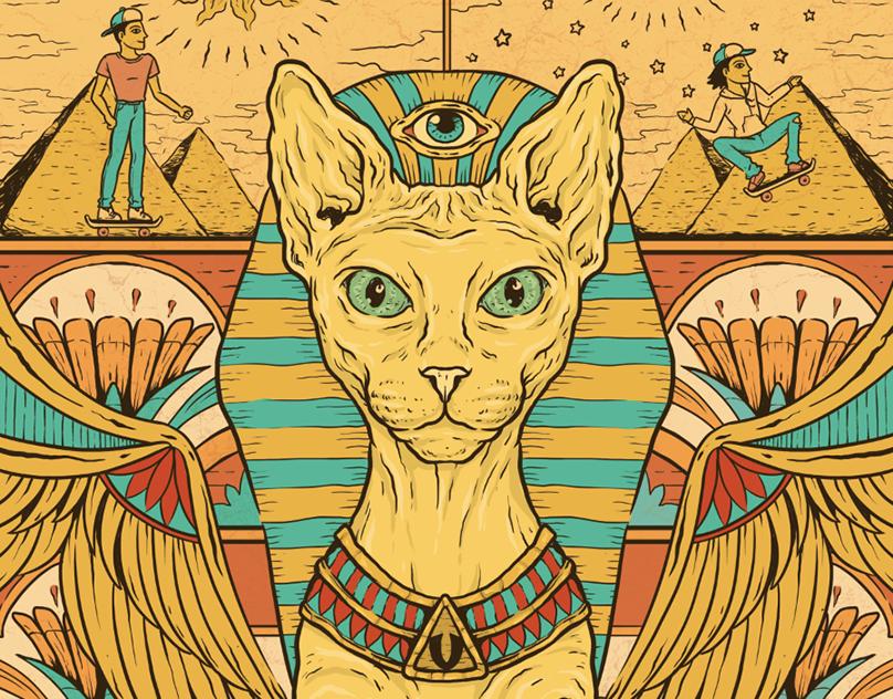 ведь коты в египте рисунок стиль ассоциируется чем-то