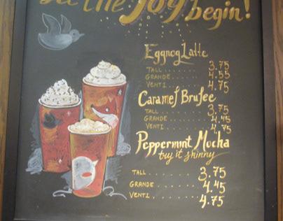Starbucks Chalkboard Signs