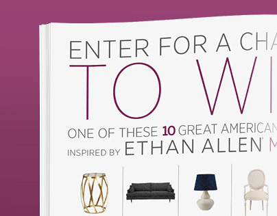 "ETHAN ALLEN ""FIND YOUR MUSE"""