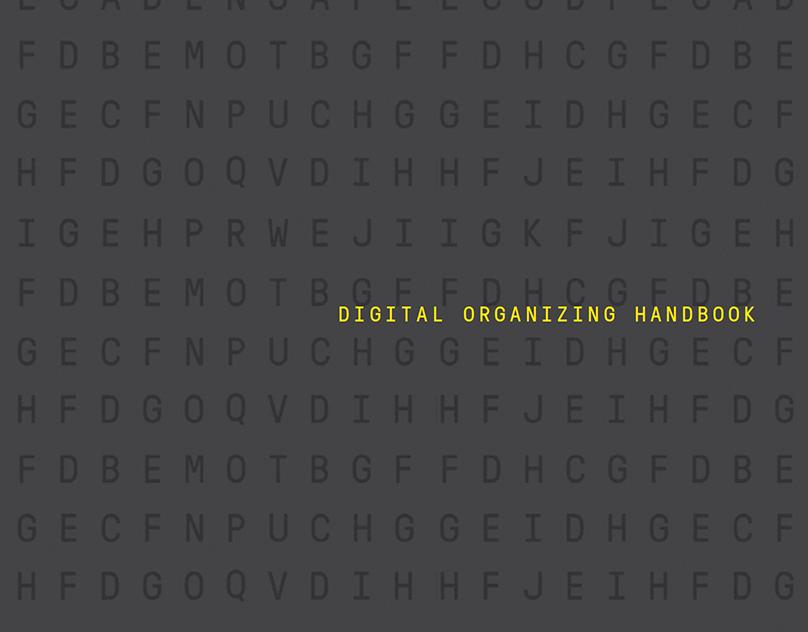 Layout Design   ACRONYM's Digital Organizing Handbook