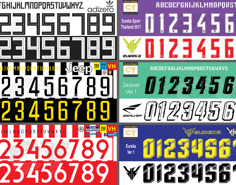 FONT NUMBER KIT SOCCER Version 1 - CYSHOP VN on Behance