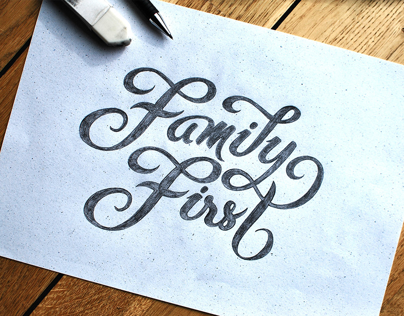Family First lettering