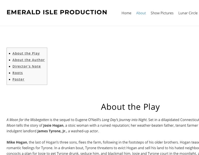 Emerald Isle Production Website