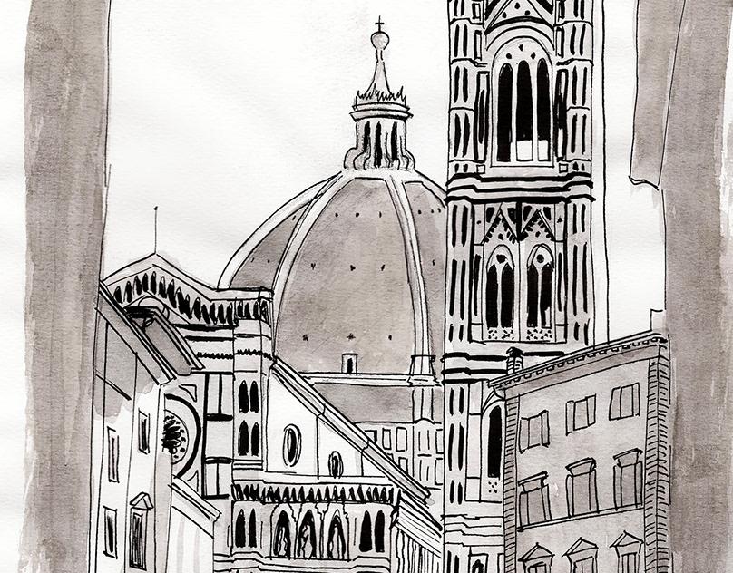 Рисунки италия легкие