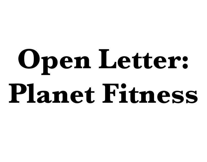 Open Letter Planet Fitness On Behance