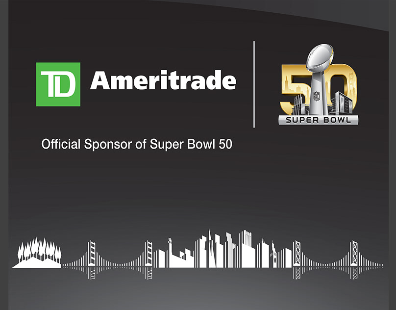Super Bowl 50 TD Ameritrade branch window panels