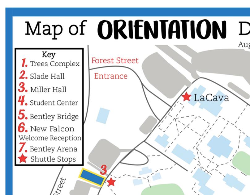 Bentley University Campus Map - Orientation Day 1 on Behance