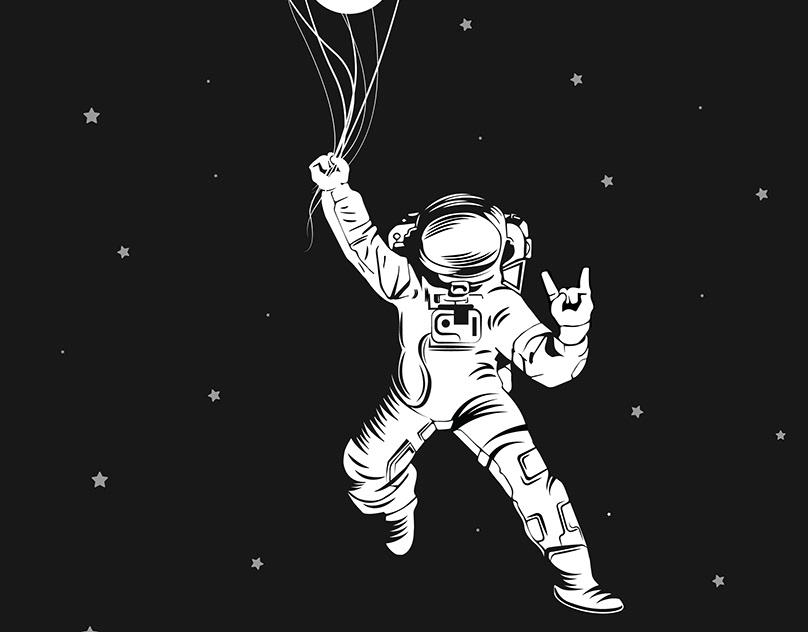 astronauts with ok symbol - 808×632
