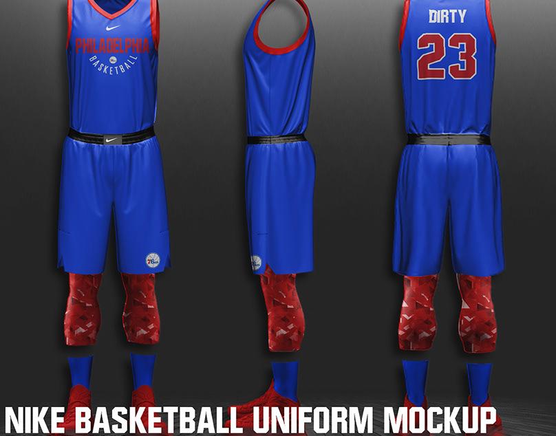 Download FREE NIKE NBA BASKETBALL UNIFORM MOCKUP on Behance Free Mockups