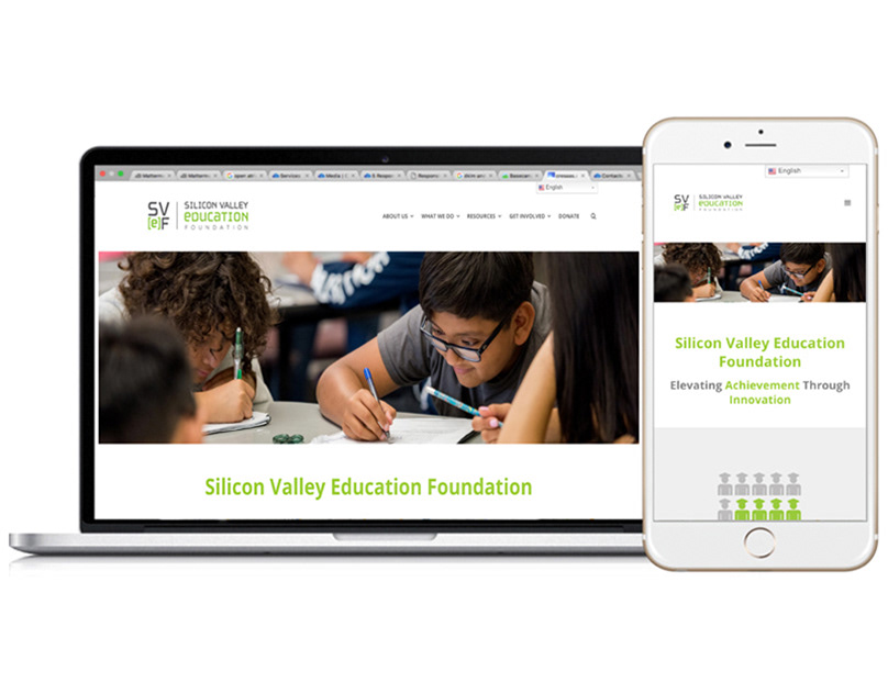 Silicon Valley Education Foundation Website