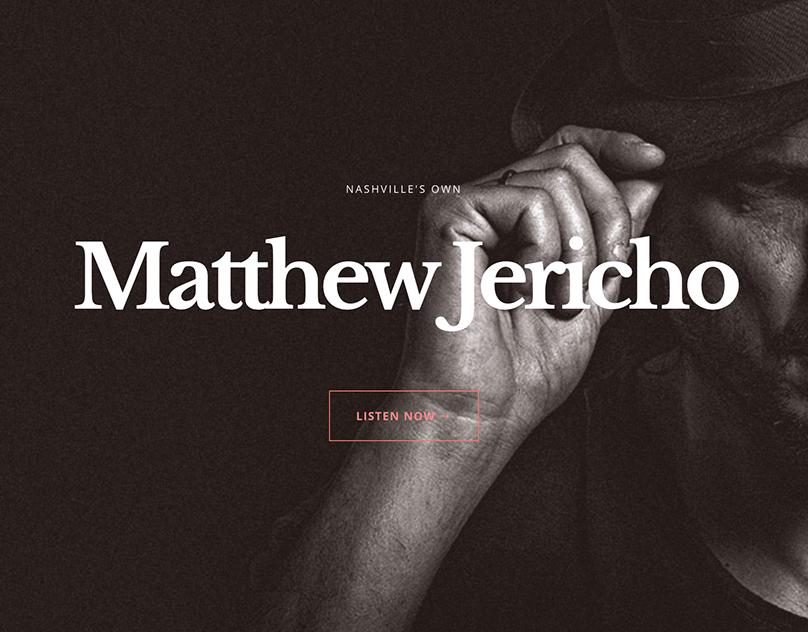 Musician Matthew Jericho WordPress