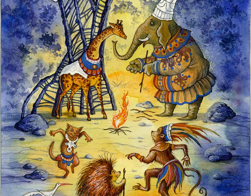 иллюстрации к африканским сказкам продажа