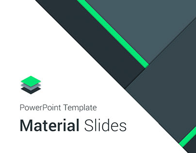 material design powerpoint template on behance