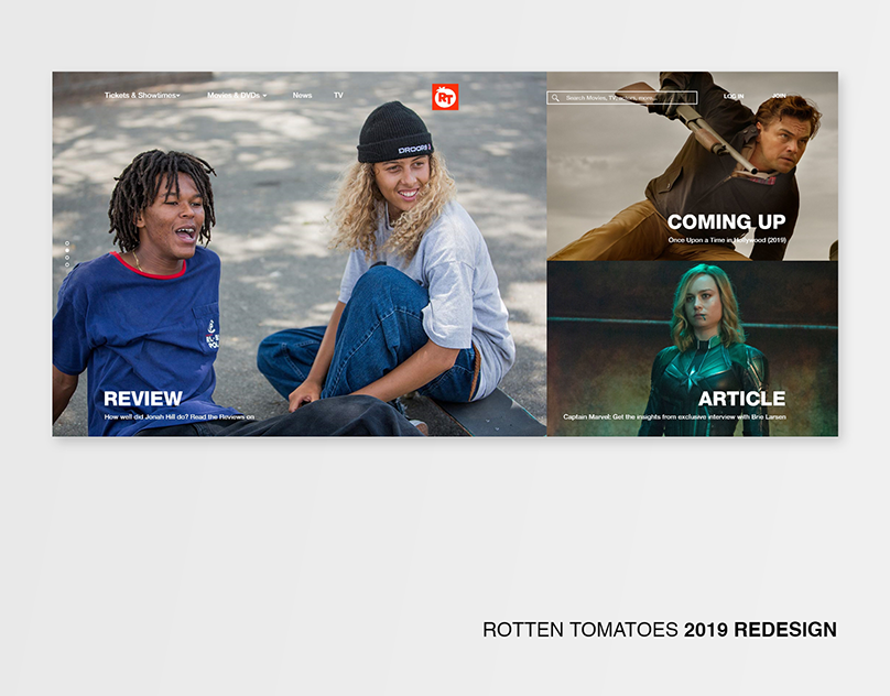 Rotten Tomatoes 2019 REDESIGN on Behance