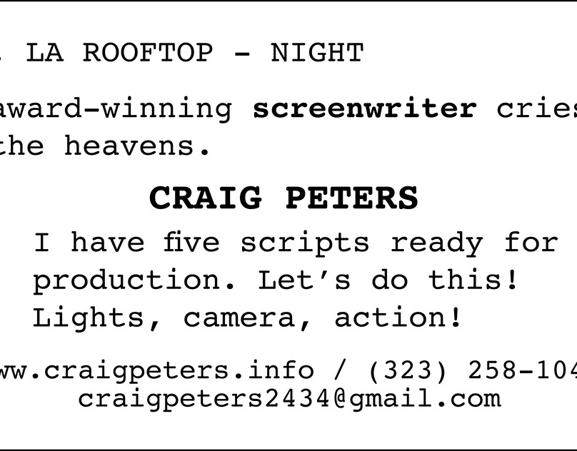 Craig Peters Business Card