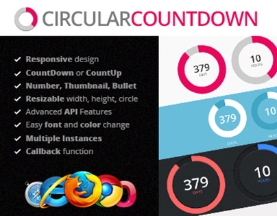 Circular Countdown jQuery Plugin on Behance