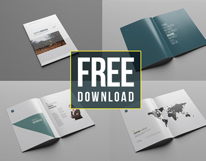 Company profile cover page template free download construction.
