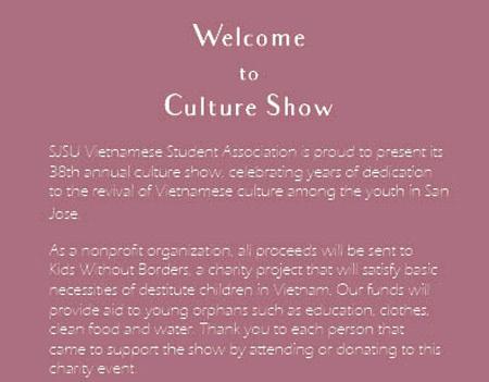 SJSU VSA Culture Show Booklet on Behance