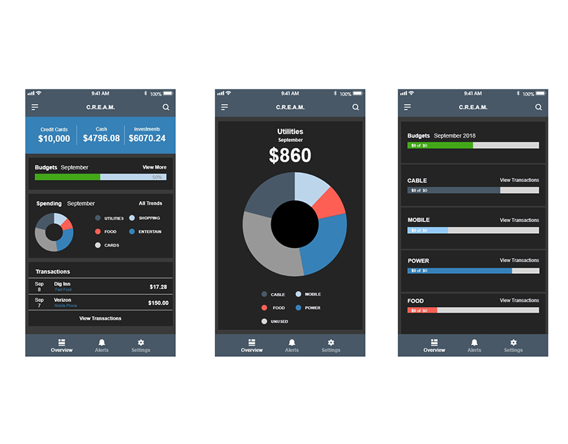 Adobe XD Challenge Day 1 - Financial App